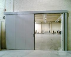 Fire-prevention fire-resistant retractable gate