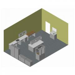 Construction laboratory, furniture set,