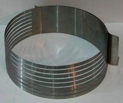 Раздвижная форма с прорезями для нарезки бисквита