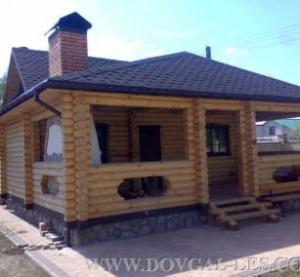 Las casas de campo de madera, en casa del corte