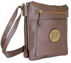 Стильная женская сумочка цвета норка, польский
