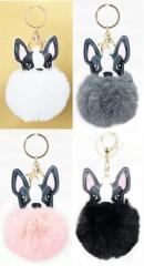 Прикольный меховой брелок для ключей, сумок и