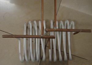 Двухсекционный индуктор кузнечного нагревателя