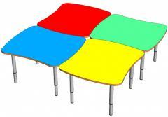 Стол для детского сада, модульный, комплект из 4