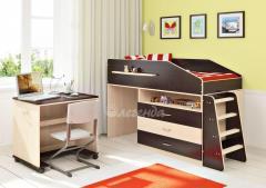 Кровать чердак + лестница + стол Легенда 12.1