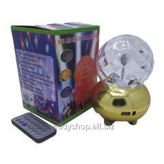 Лампа на поставке шар вращающийся RGB