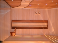 Saunas Finnish of a linden