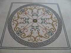 Полы мраморные мозаичные