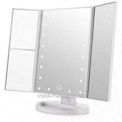 Тройное зеркало БЕЛОЕ со станями Led miror (24)