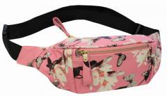 Удобная кожаная женская сумка-бананка на пояс,