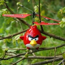 The radio-controlled Angry Birds helicopter, with