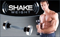 Vibro Shake Weight dumbbell for men with DVD