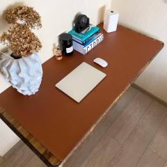 Настольное покрытие эко-кожа 1200х600х2мм Серый / Коричневый