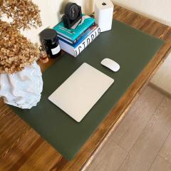 Настольное покрытие эко-кожа 900х450х2мм Серый / Зеленый