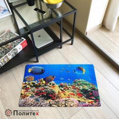 Придверный коврик с рисунком МОРСКОЙ МИР 450х750 мм