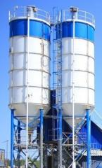 Silo for grain, the granary, production,