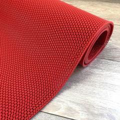 Противоскользящее покрытие-дорожка для бассейна, цвет красный ЗигЗаг 4,5 мм толщина