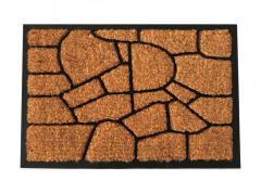 Придверный кокосовый коврик на резиновой основе 400х600 мм САХАРА