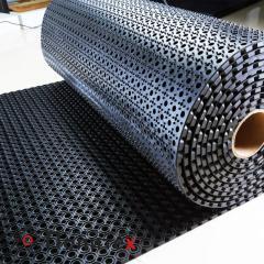 ОКТАГОН Резиновый ячеистый сота рулон, толщина 13мм, черный