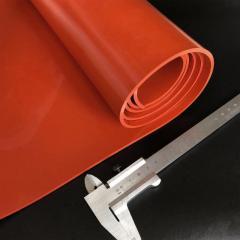Силиконовая пластина термостойкая, толщина 10 мм, шир.рул. 1000 мм