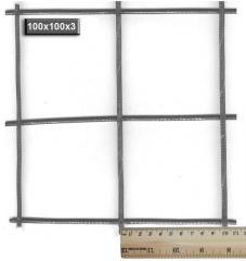 Grid masonry 100х100х3 (2х0,37) m from a wire of