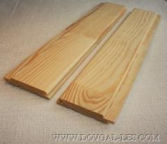 Pogonazhny products from the spliced pine, lining