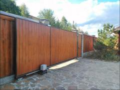 Gate are retractable automatic, to buy Ukraine