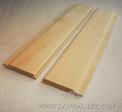 Вагонка деревянная высший сорт сосна, липа, ольха 80х15мм