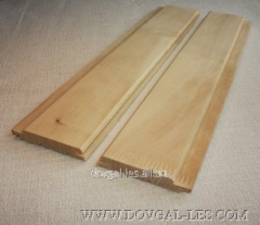 Wooden lining for covering of sauna, bath,