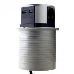 ElectroHouse Мебельная розетка 3 x 16 А, 2 x USB
