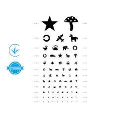 Таблица для проверки зрения у детей, таблица Орловой, плакат для проверки зрения медицинский Завет