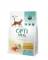 Optimeal (Оптимил) Chicken для кошек курица 0,2 кг