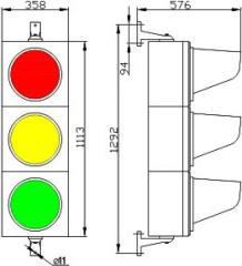 The traffic light is light-emitting diode,