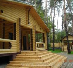 Коттеджи деревянные, строительство домов из бруса