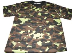 T-shirts, camouflage
