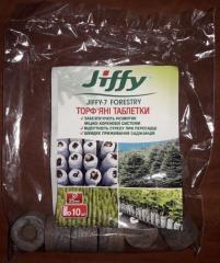 Торфяные таблетки Jiffy-7 Forestry, d 25 мм (10шт)
