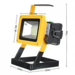 Ручний прожектор X-Balog BL204 100W Чорний+Жовтий
