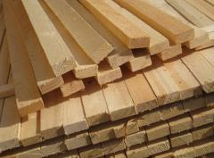 The lath is pine