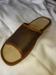 Тапочки женские кожаные карпатские