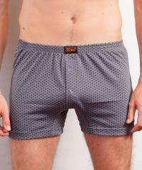 Cotton pants boxers with buttons and a gusset