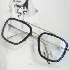 Очки Тони Старка Имиджевые черный+серебро