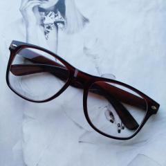 Имиджевые очки с прозрачной линзой Коричневый