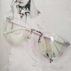Имиджевые очки в тонкой оправе унисекс Прозрачный