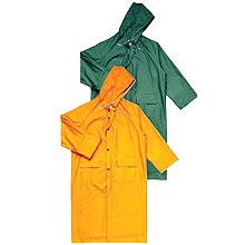 The raincoat is moisture protective. Overalls
