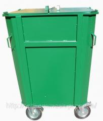 Контейнеры для мусора КБМ-0,75 на колесах с