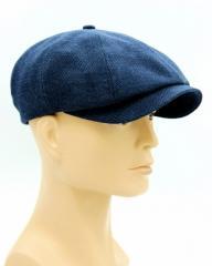 Мужская темно синяя кепка восьмиклинка.