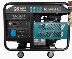 Бензиновый двухцилиндровый генератор KS...