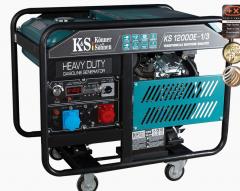 Бензиновый двухцилиндровый генератор KS 12000E-1/3
