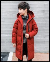Детская зимняя куртка пуховик для мальчиков-(
