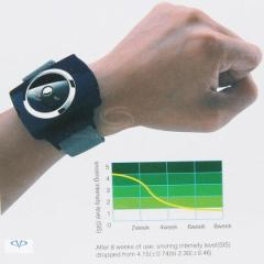 Anti-Snore, bracelet on a wrist for a normal dream